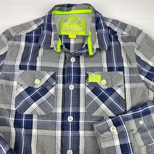 Superdry Men's Long Sleeve Button Up Shirt Size XL